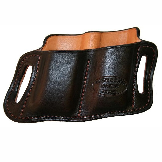 """Texas Leathercraft Tucker and Byrd #2 Double Mag Pouch - Springfield XDM 9/40 3.8"""" - Left Hand - Natural at Sears.com"""