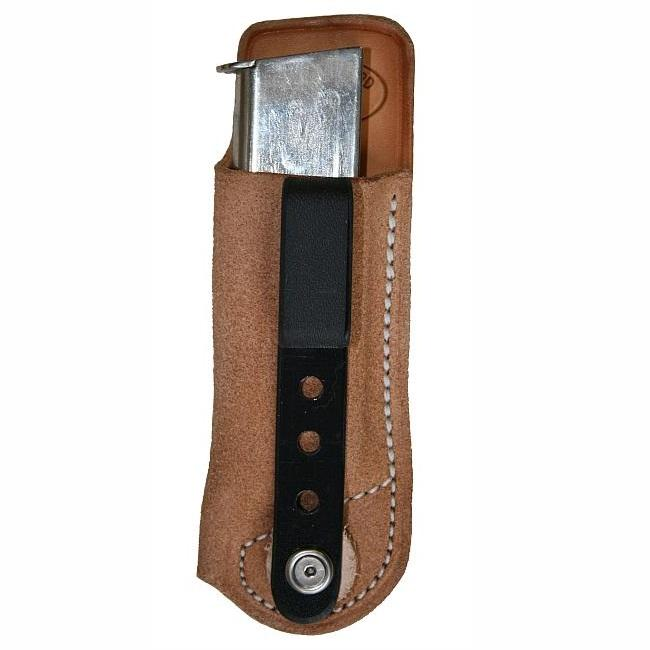 """Texas Leathercraft Tucker and Byrd IWB Single Mag Pouch - Springfield XDM 9/40 3.8"""" - Left Hand - Natural at Sears.com"""