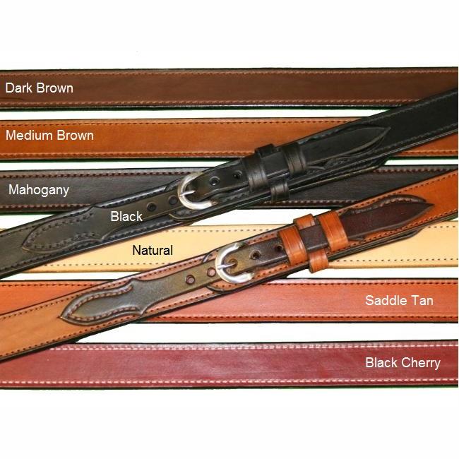 "Texas Leathercraft Tucker and Byrd 54"" Ranger 1 1/4"" Gun Belt Black Brass"