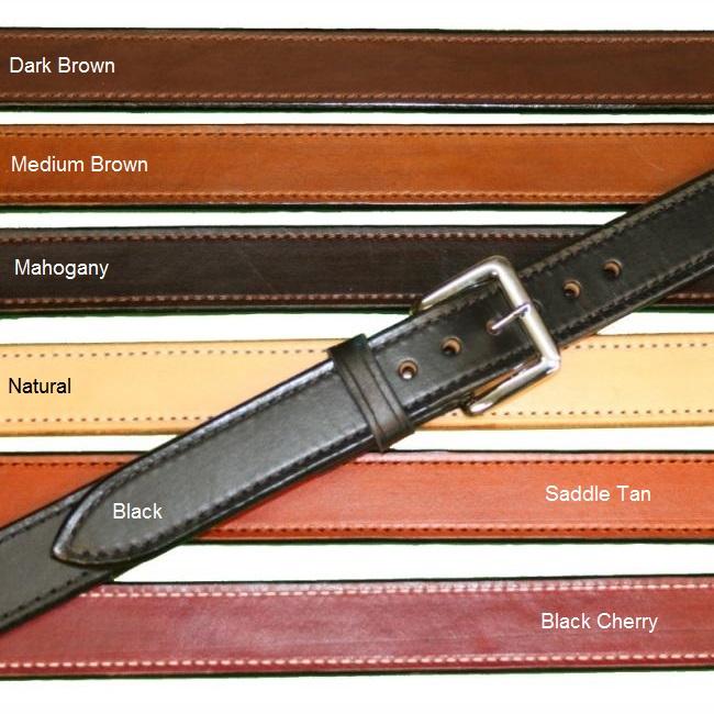 "Texas Leathercraft Tucker and Byrd 54"" Straight 1 1/2"" Gun Belt Natural Chrome"
